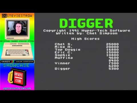 Digger 1991 - Tandy Color Computer 3 Game