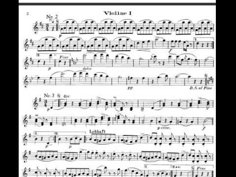 The Blue Danube (Strauss) violin sheet music