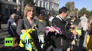 Russia: Muscovites Hold Rally For Peace In Ukraine