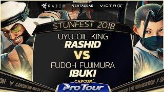 UYU Oil King (Rashid) vs Fudoh Fujimura (Ibuki) Stunfest 2018 - Top 8 Losers Finals - CPT 2018