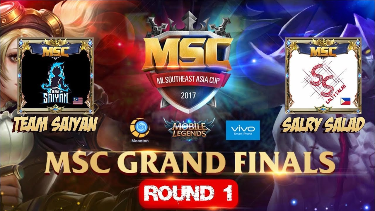 TEAM SAIYAN VS SALTY SALAD Match 1 - Mobile Legends MSC Grand Finals 5 Nations