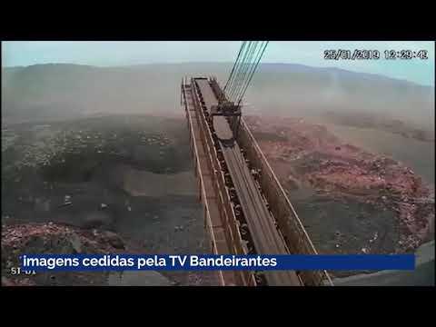 Vídeo mostra onda de lama após rompimento de barragem em Brumadinho; assista
