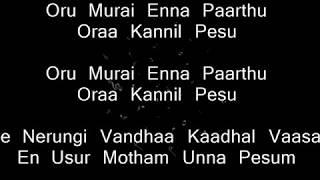 7UP Madras Gig - Orasaadha Instrumental | Karaoke with Lyrics