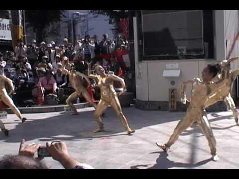 第32回(2009年)大須大道町人祭「金粉ショウ(ふれあい広場)/大駱駝艦」1/3