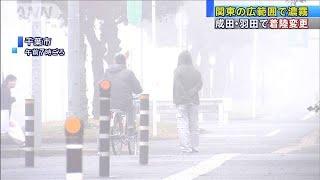 濃い霧が朝の関東覆う 空の便など交通に影響(19/11/25)