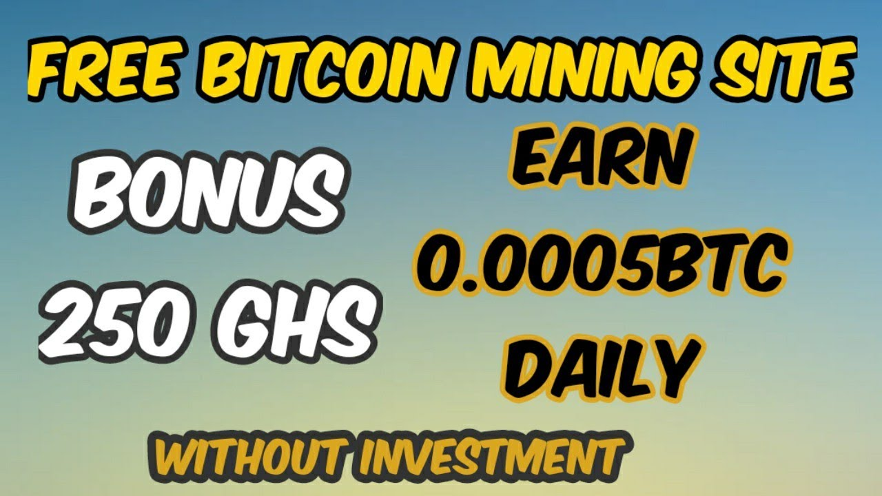 Earn Each day zero 0005BTC – Free bitcoin mining web site