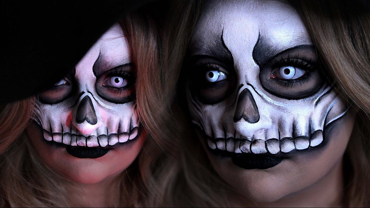 voodoo skull mask halloween costume makeup tutorial 31 days of halloween youtube
