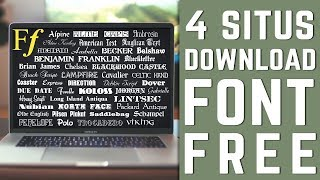 Gambar cover Rekomendasi 4 Situs Download Font (FREE)