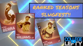 OFFENSIVE BATTLE!! IMMORTAL YOGI BERRA!! KEN GRIFFEY JR! TED WILLIAMS! MLB THE SHOW 18