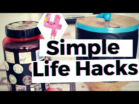 4-simple-life-hacks-(empty-proteine-jar)-||the-airzooka---vintage-cookies-container---proteine-drum