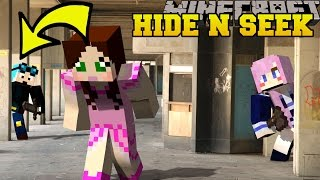 Repeat youtube video Minecraft: YOUTUBERS HIDE AND SEEK - Morph Hide And Seek - Modded Mini-Game