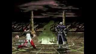 拳皇混沌格斗 暴走八神 vs 真Zero。Kof:chaos battle Orochi Iori vs Original Zero