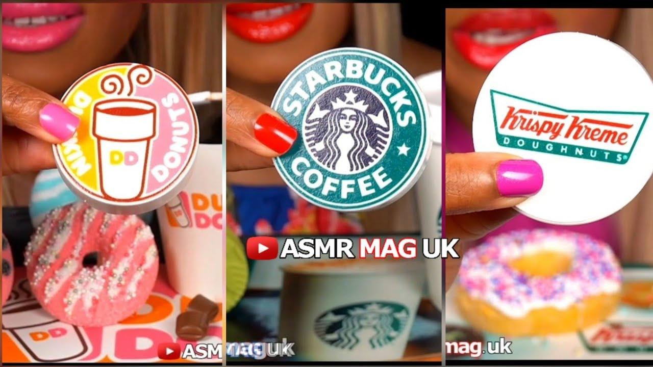 ASMR Eating Chocolate Covered Oreos, Dunkin' Donuts Oreo, Starbucks Oreo, Krispy Kreme Oreos