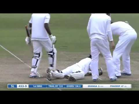 CHRIS JORDAN WICKETS VS SRILANKA - 2013 TEST SERIES