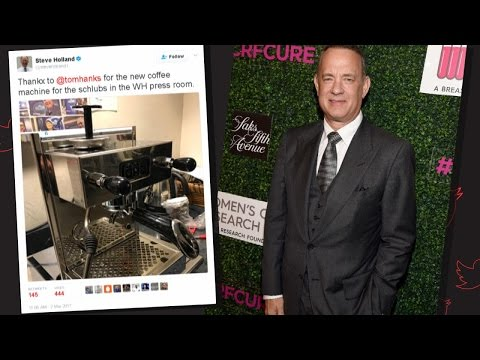 Tom Hanks Sends Espresso Machine To White House Press Corps
