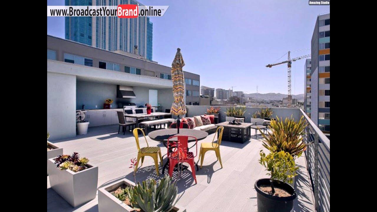 Penthouse Loft Mit Dachterrasse Bereiche Geteilt Outdoor Küche X ...