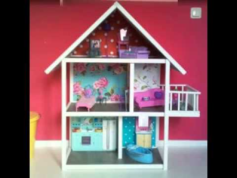 Homemade DIY barbie house making ideas - YouTube