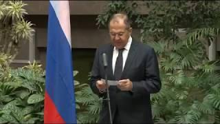 С.Лавров на открытии выставки по случаю 160-летия установления дипотношений между Россией и Уругваем