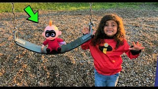 Outdoor Playground park Fun with Jack jack the Incredibles 2 - family fun