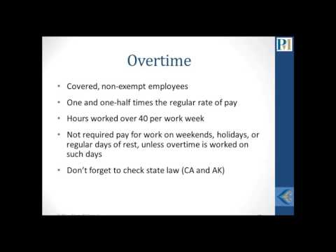 Fair Labor Standards Act New Overtime Rules Explained