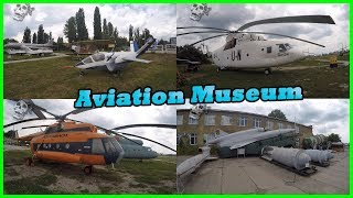 Exploring State Aviation Museum. Museum of Planes, Helicopters, Aircraft, Military Vehicles