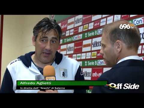 Salernitana-Virtus Entella 1-0:  il commento di Aglietti