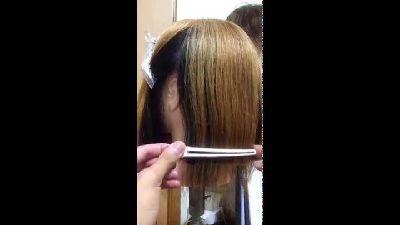 ヘアカット 簡単方法 女の子髪型 ボブをバッサリ自宅で可愛く切る
