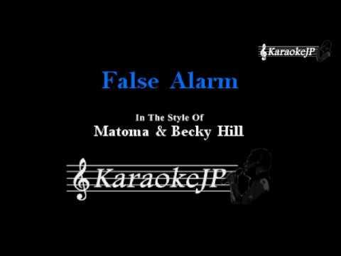 False Alarm (Karaoke) - Matoma & Becky Hill