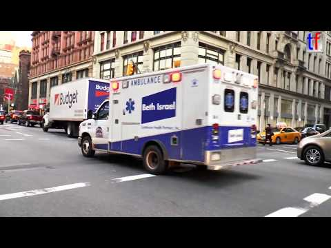 **RESPONDING** Ambulance From Beth Israel Medical Center, Manhattan, NY, USA, 2014.