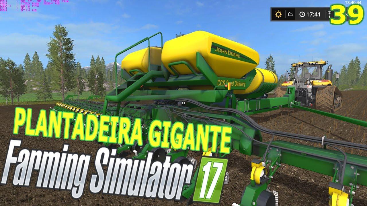 Farming Simulator 2017 - Plantadeira Jonh Deere DB90 - YouTube