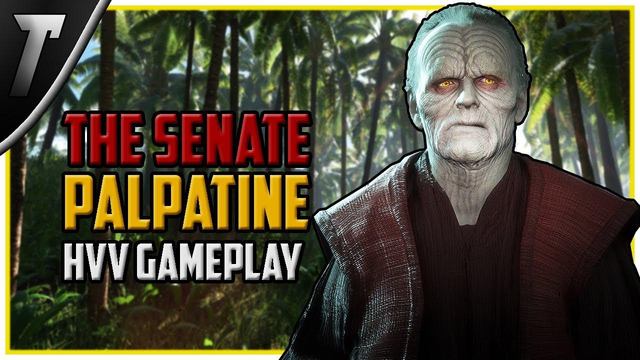 Star Wars Battlefront 2 The Senate Palpatine Heroes Vs Villains Gameplay (PC Mod)