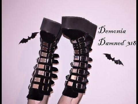 Walking in Demonia Damned 318 Platform Boots + Written Review