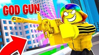 I shot 12,000,000,000 BULLETS PER SECOND with GODLY GUN.. (Roblox)