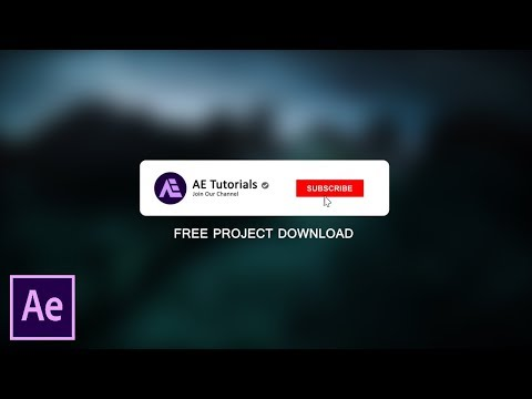 After Effects Tutorial Youtube Subscribe Button Animation (Free Project)