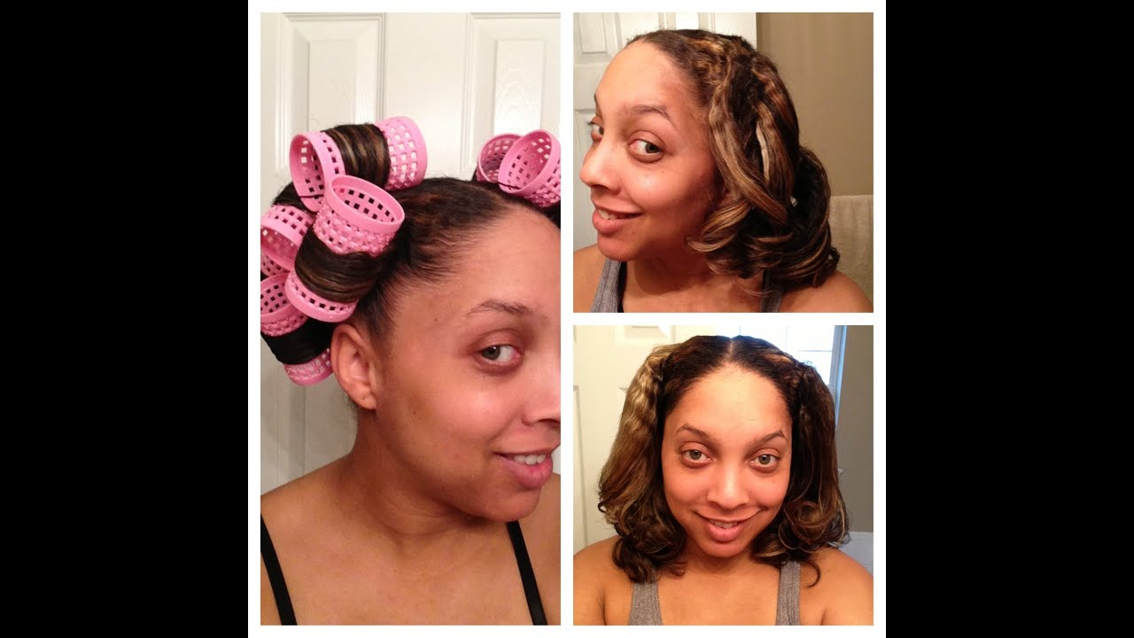 Cheat Roller Set Pony Tail Method on Natural Curly Hair
