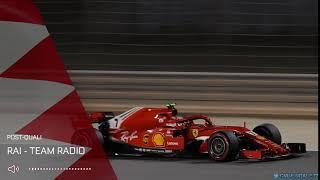Kimi's post qualifying team radio in Q3 BahrainGP