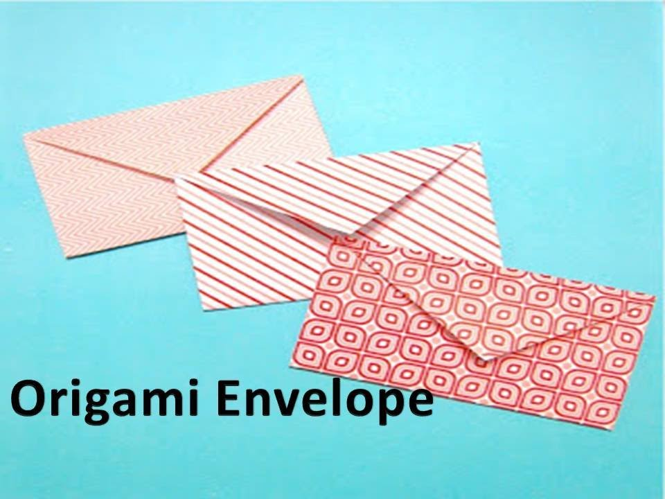 How to make an Origami Envelope - YouTube