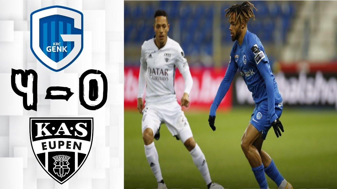 Genk 4 - 0 Eupen: All Goals & Extended Highlights - YouTube
