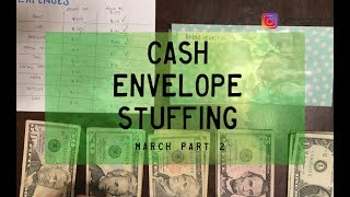 Cash Envelope Stuffing, March pt. 2 & GIVEAWAY | Dave Ramsey Inspired | BudgetwithBri