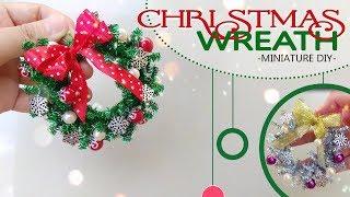 DIY | How to make Christmas Wreath - Miniature