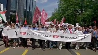 Gaza conflict triggers protests in Brussels