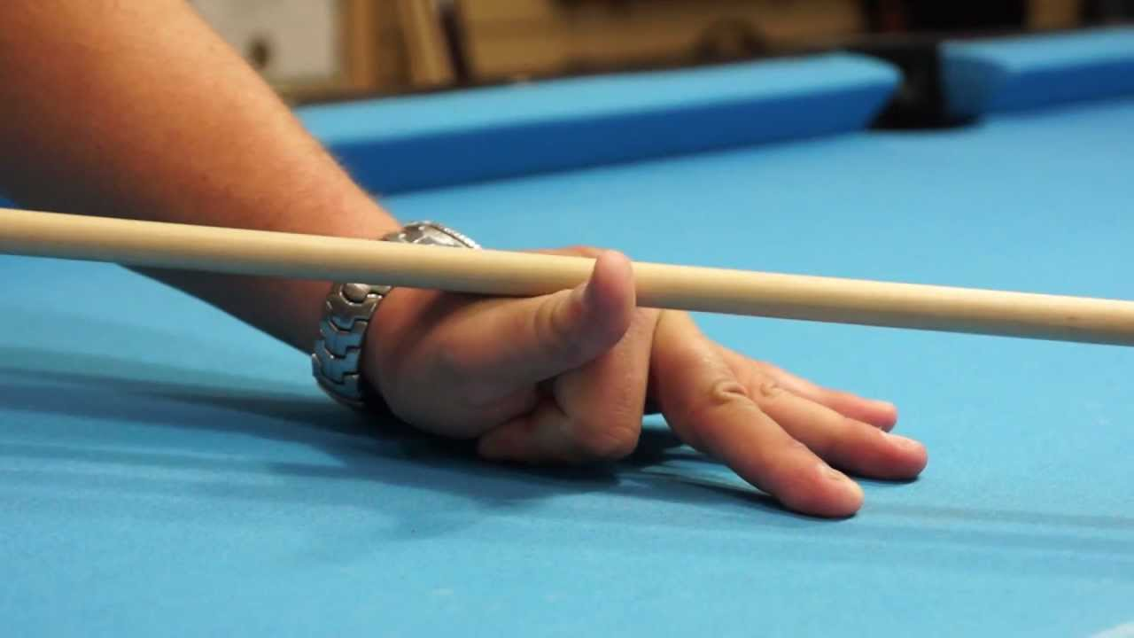 open hand bridge in billiards and pool youtube. Black Bedroom Furniture Sets. Home Design Ideas