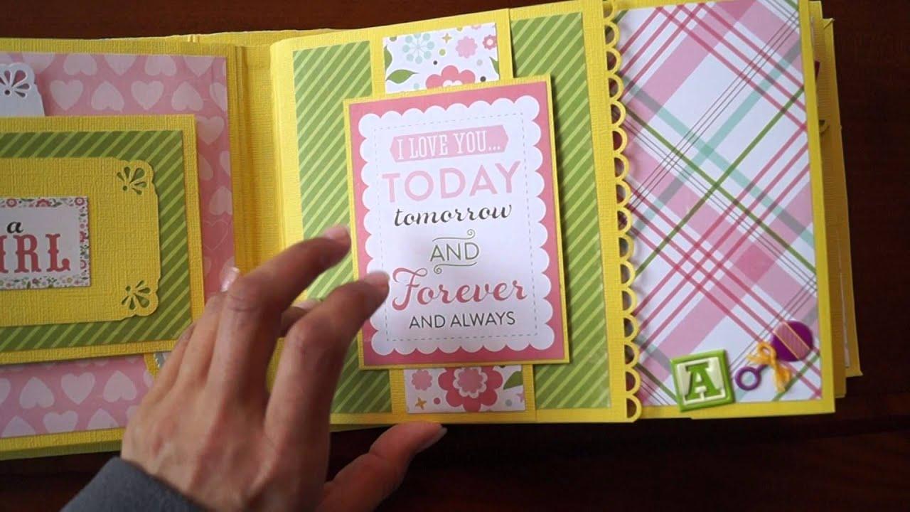 How to scrapbook a mini album - Scrapbook Mini Album Echo Park Bundle Of Joy With Subtitle En