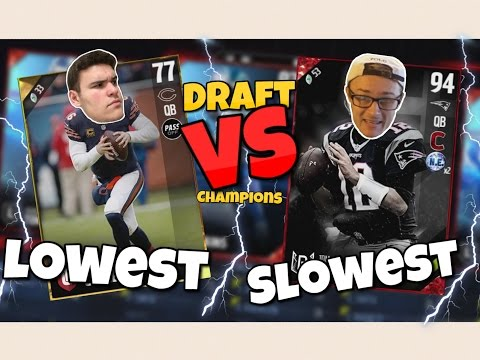 SLOWEST vs LOWEST PLAYERS DRAFT!! Hilarious Madden 17 Draft Champions