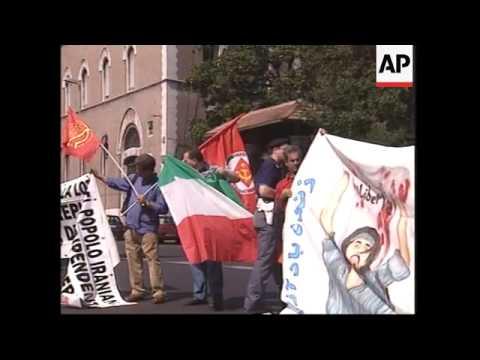 Exiles demonstrate against Khamenei govt.