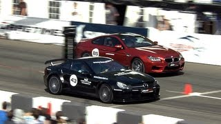 Mercedes SL 65 AMG Black Series vs BMW M6 F12 and Porsche 911 Turbo