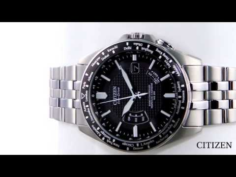 Citizen Radio Controlled Titanium World Perpetual Watch CB0030-56E