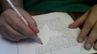 Learn how to draw a star solvable drawn maze