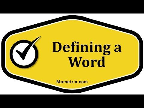 Defining a Word