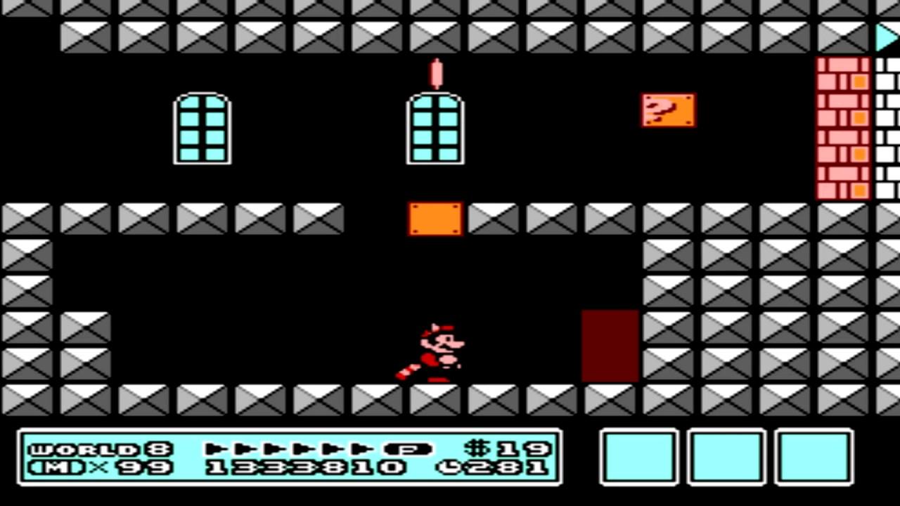 Super Mario Bros 3 World 8 Fortress Youtube